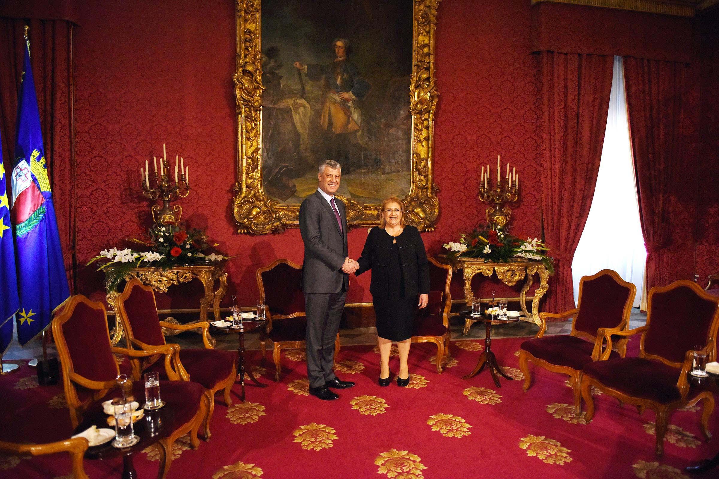 Presidenti Thaçi uron homologen malteze për marrjen e kryesimit të Këshillit të Bashkimit Evropian