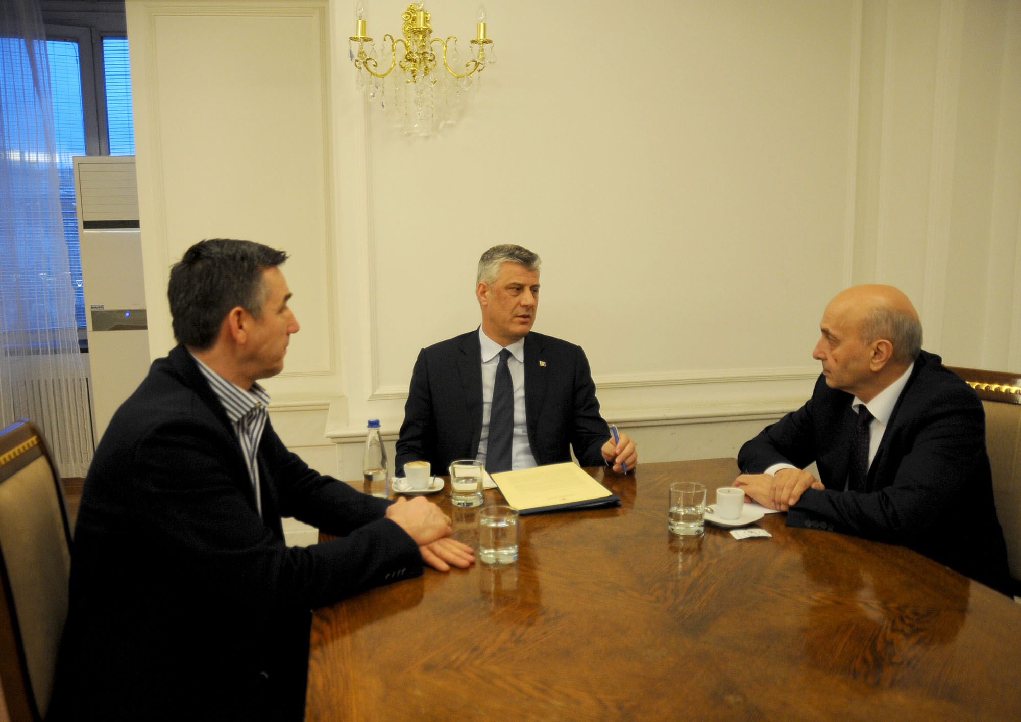 President Thaçi met with the President of the Assembly, Veseli and Prime Minister Mustafa, they get coordinated on the implementation of the international obligations - News & Events - President of the