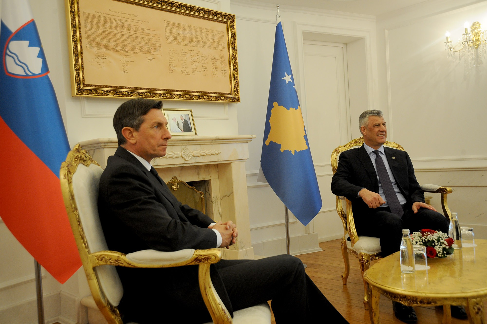 President Thaçi received the President of Slovenia, Borut Pahor