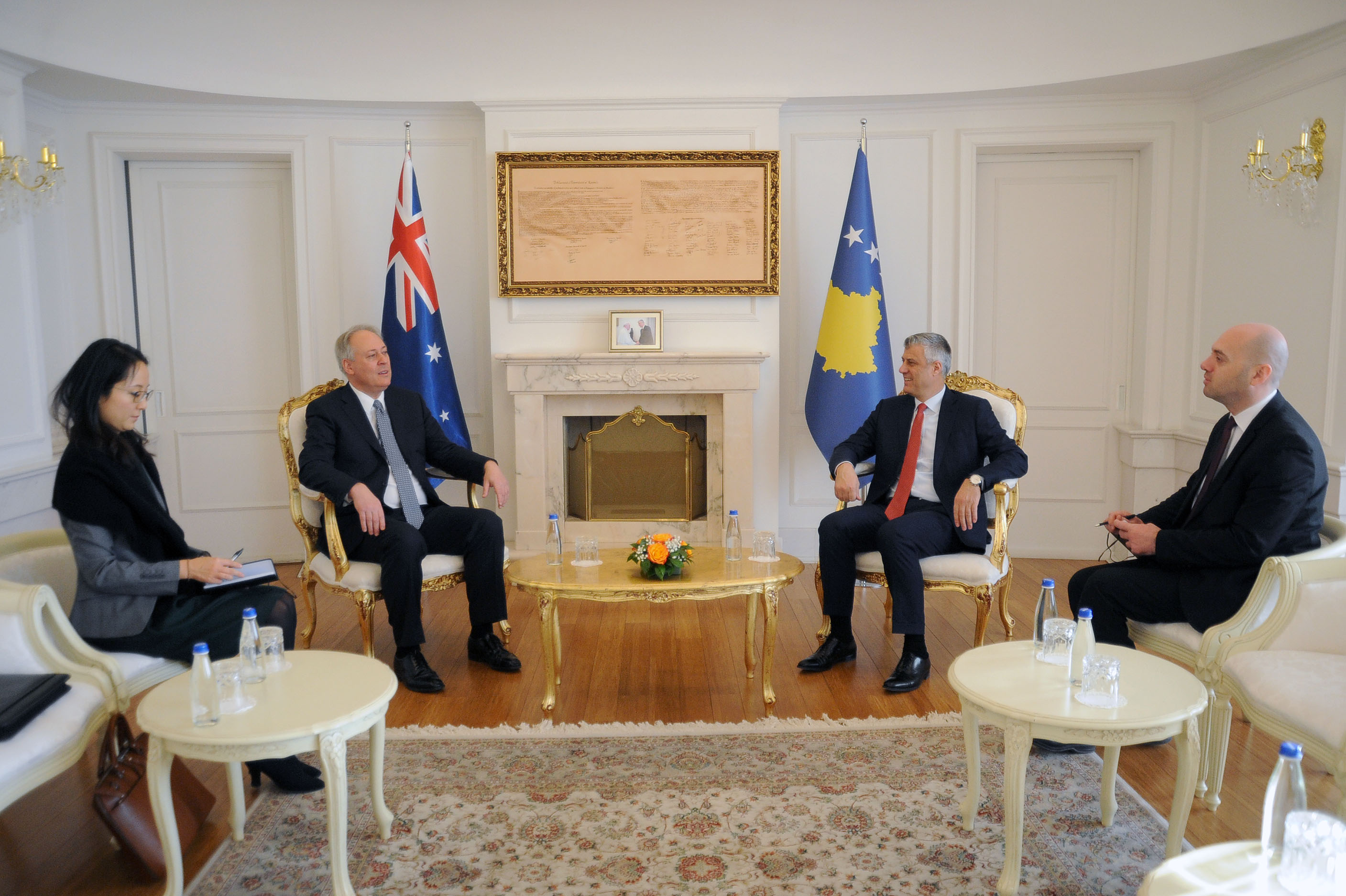 President Thaçi received the credentials of the new Ambassador of Australia