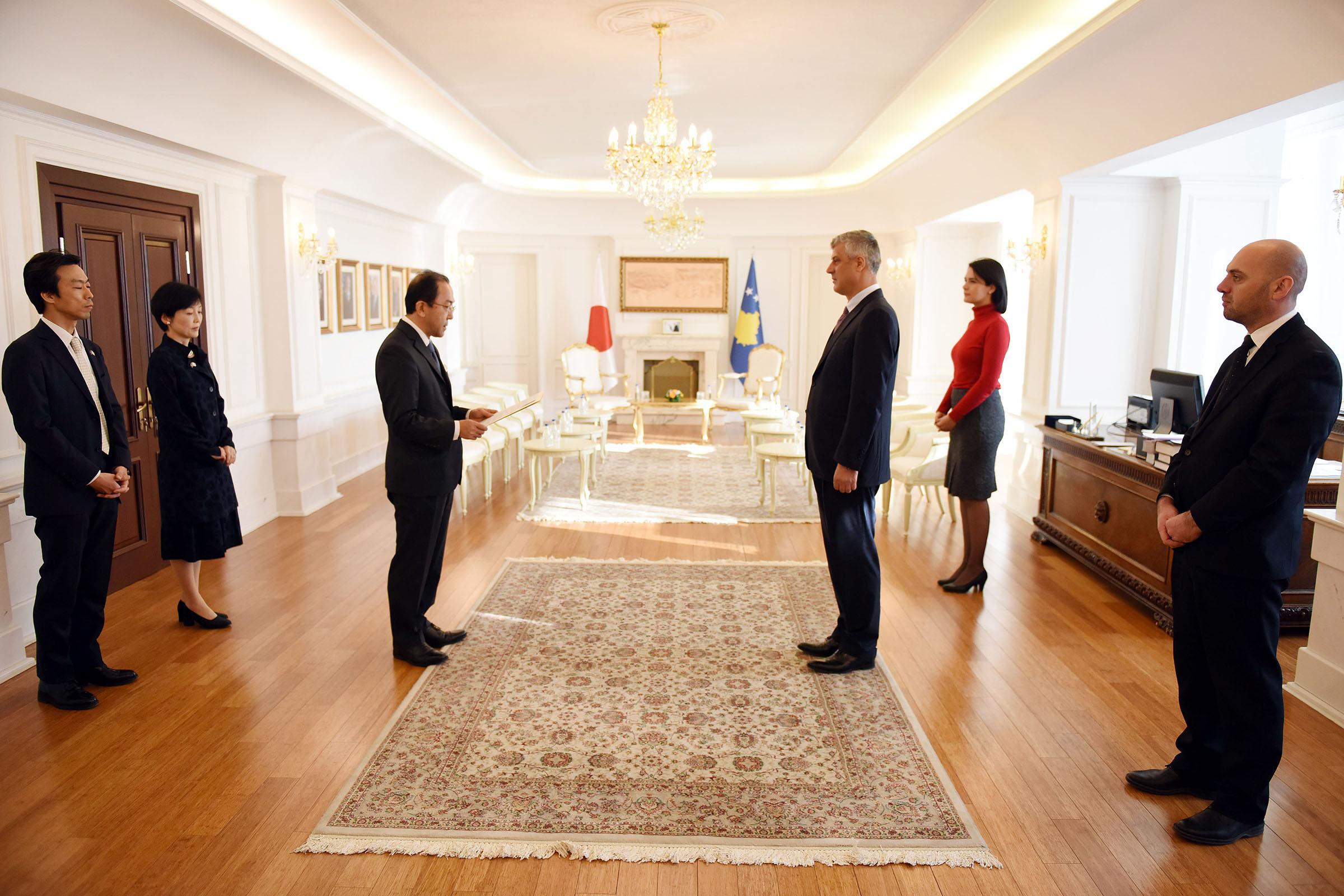 Presidenti Thaçi pranoi letrat kredenciale nga ambasadori japonez
