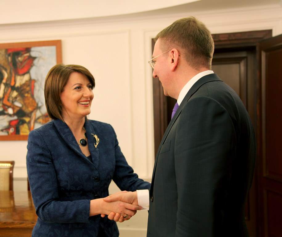 President Jahjaga received the Minister of Foreign Affairs of Latvia