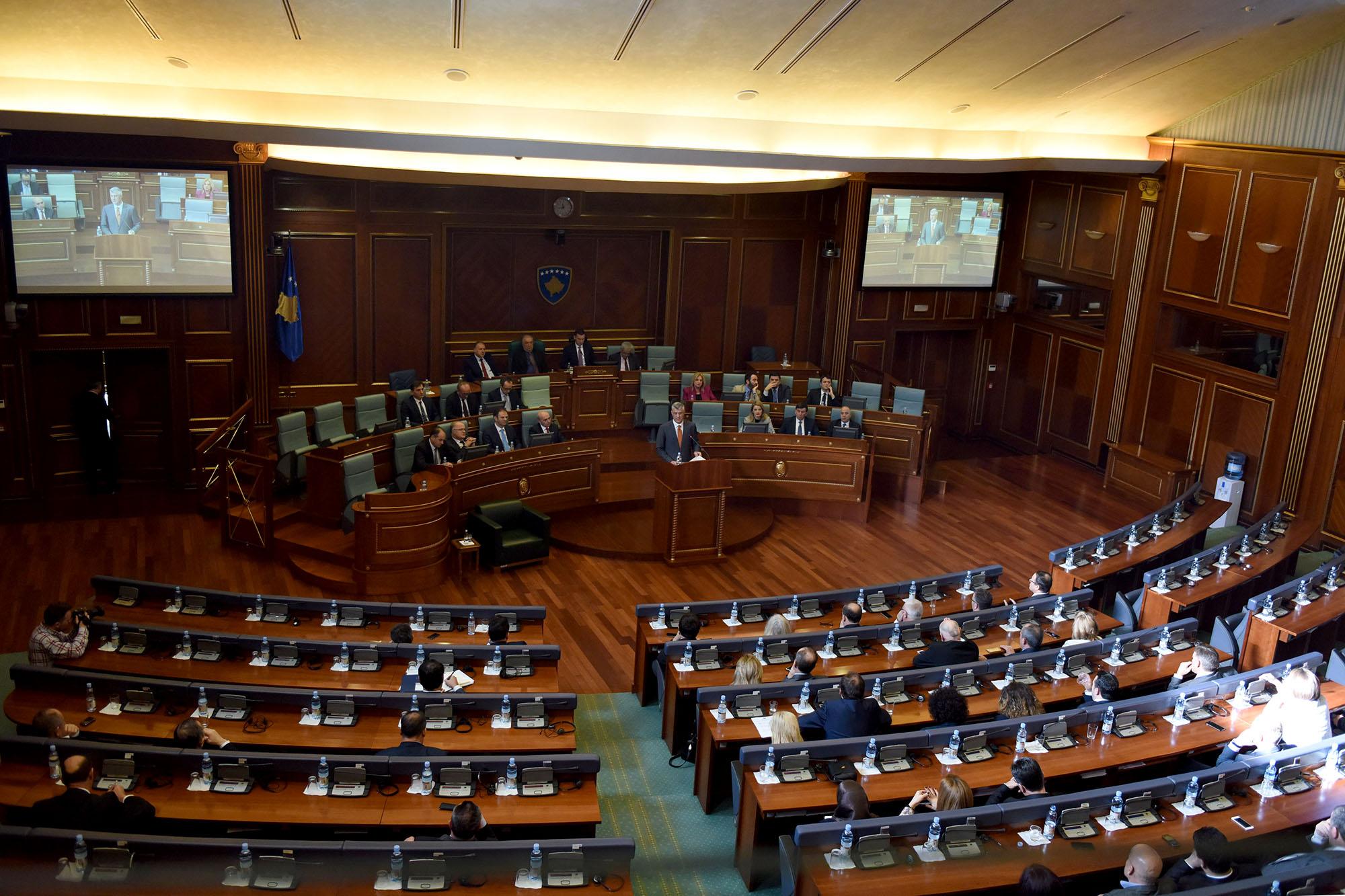 Fjalimi i plotë i presidentit Hashim Thaçi, në Kuvendin e Republikës së Kosovës