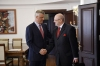 President Thaçi and Ambassador Lamberto Zannier speak about the rights of the communities