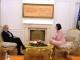 Predsednica Jahjaga, je dočekala na sastanak gospodina Daniel Serwer
