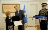 Presidenti Thaçi dekoron Tinka Kurtin, Margarita Xhepën dhe Zenepe Lukën me Medalje Presidenciale të Meritave