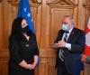 U. d presidentja Osmani u takua z. Alex Kuprecht, President i Senatit Zviceran (Këshillit të Shteteve)
