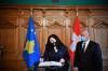 U. d presidentja Osmani u takua me Presidentin e Këshillit Kombëtar të Zvicrës, Andreas Aebi