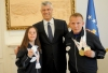 President Thaçi received the winners of the medals in the Special Olympics World Winter Games 2017