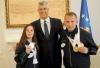 Presidenti Thaçi priti fituesit e medaljeve në Lojërat Olimpike Speciale Botërore Dimërore 2017