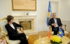 President Thaçi met the former President of the Swiss Confederation, Micheline Calmy-Rey