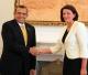 Presidentja Jahjaga priti presidentin e Hondurasit Porfirio Lobo Sosa