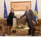 The Acting President of Kosovo Dr. Jakup Krasniqi receives the MEP Doris Pack