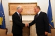 President Pacolli meets the football legend Franc Beckenbauer