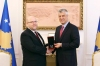 The President decorated Jeffrey Hovenier with the Presidential Jubilee Medal