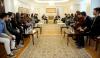 Presidenti Thaçi flet me studentë shqiptarë nga Maqedonia për forcimin e rolit të të rinjve