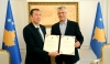 "President Thaçi decorates Professor Otto von Feigenblatt with the title ""Honorary Ambassador"" of Kosovo"