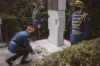 President Osmani paid homage to the tomb of President Dr. Ibrahim Rugova and at the Jashari family memorial in Prekaz