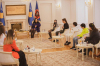 President Osmani received the students of the Atomi Institute: They are the most promising image of Kosovo, our wealth and our perspective