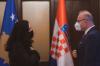 Presidentja Osmani priti në takim ministrin kroat për punë të Jashtme dhe Çështje Evropiane Gordan Grlić Radman 1