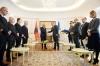 "President Thaçi awards the President of the Assembly of Albania the medal ""Order of Freedom"""