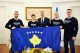 President Thaçi hands over the flag of Kosovo to the alpinists in order to raise it on the top of the Everest