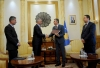 President Thaçi handed over to the President of the Assembly, Veseli the Draft Law on the Army of Kosovo