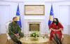 U.d. e Presidentes së Kosovës, dr.Vjosa Osmani takoi Komandantin e FSK-së, gjeneralleitënant Rrahman Rama