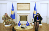Acting President Osmani received KFOR Commander, General Michele Rissi