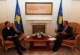 President Pacolli receives a International Monetary Fund delegation at a meeting