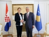 President Thaçi accepted the credentials from the new Ambassador of Croatia