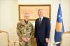 Presidenti Thaçi falënderon gjeneralin Giovanni Fungo për shërbimin në Kosovë