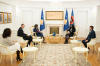 President Osmani received at the meeting the new director of the UNICEF Kosovo office Mrs. Nona Zicherman