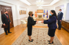 Acting President Dr. Vjosa Osmani received the credentials of the Ambassador of North Macedonia, Mrs. Shpresa Jusufi