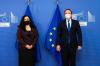 U.d. Presidentja Osmani u takua me Komisionerin e BE-së për Fqinjësi dhe Zgjerim