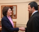 President Jahjaga received the Foreign Affairs Minister of the United Arab Emirates, Sheikh Abdullah Bin Zayed Al-Nahyan