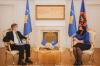 Presidentja Osmani priti në takim shefin e EULEX-it, Lars-Gunnar Wigemark
