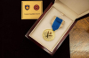 President Osmani awards the KFOR Commander in Kosovo Major General Franco Federici the Presidential Military Medal on the occasion of the end of his mandate