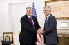 President Thaçi receives at a meeting the US Ambassador, Philip S. Kosnett
