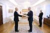 President Thaçi received the credential letters from Japanese Ambassador Akira Mizutani