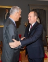 President Thaçi is received by Prince Albert II, thanks him for the support in international organizations