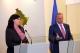 President Pacolli receives the CEC Chairwoman, Ms. Valdete Daka