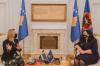 Presidentja Osmani priti në takim ambasadoren e Suedisë, Karin Hernmarck 2
