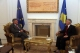 THE ACTING PRESIDENT OF THE REPUBLIC OF KOSOVO DR. JAKUP KRASNIQI RECEIVES THE NEW HEAD OF EULEX, MR. XAVIER BOUT DE MARNHAC