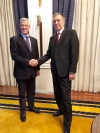 Montenegro President Filip Vujanovic congratulates President Thaçi on the tenth anniversary of Kosovo's independence