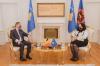 Presidentja Osmani priti në takim ambasadorin belg Jean-Louis Servais 1