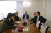 President Thaçi at a farewell meeting with the Acting Head of EULEX, Bernd Thran