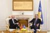 Presidenti Thaçi priti sekretarin e MPJ-së së Norvegjisë, flasin për paqen dhe stabilitetin në rajon