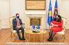 U.d. Presidentja Osmani priti në takim shefin e Zyrës së BE-së në Kosovë, z. Tomas Szunyog