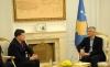 Presidenti Thaçi priti në takim përfaqësuesin e lartë të USAID-it, Brock Bierman